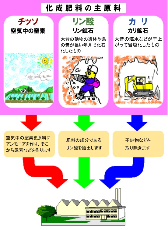 リン カリ 窒素 酸